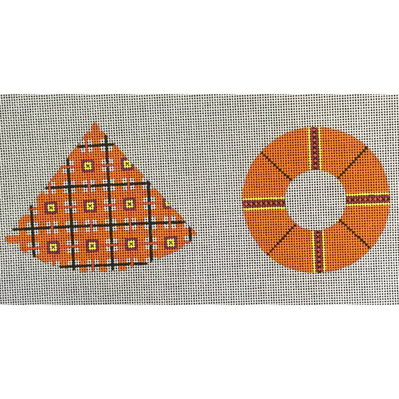 Nashville Needleworks-5247-Orange Blocked Witch Hat