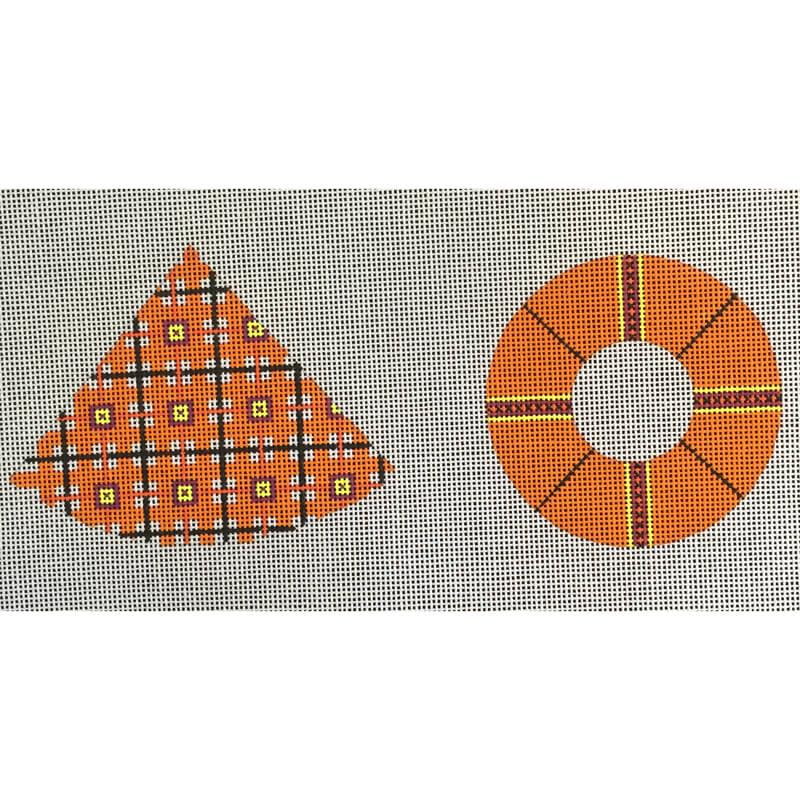 Nashville Needleworks-5247-Orange Blocked Witch Hat