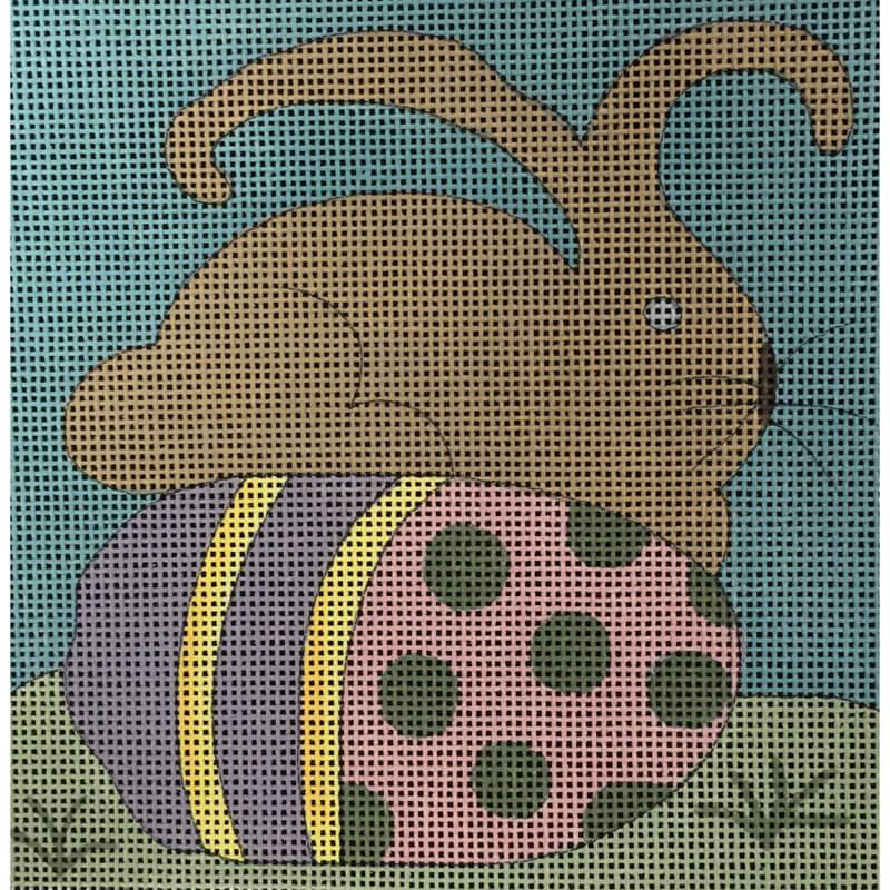 Nashville Needleworks-5464-April Easter Bunny on Egg