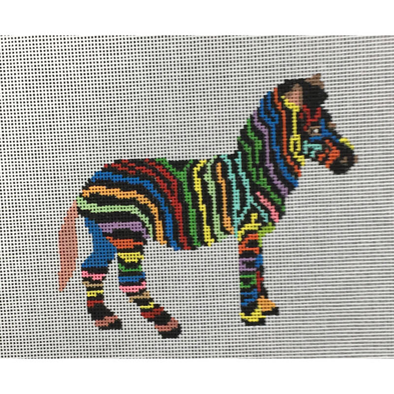 Nashville Needleworks-5458-Colorful Zebra
