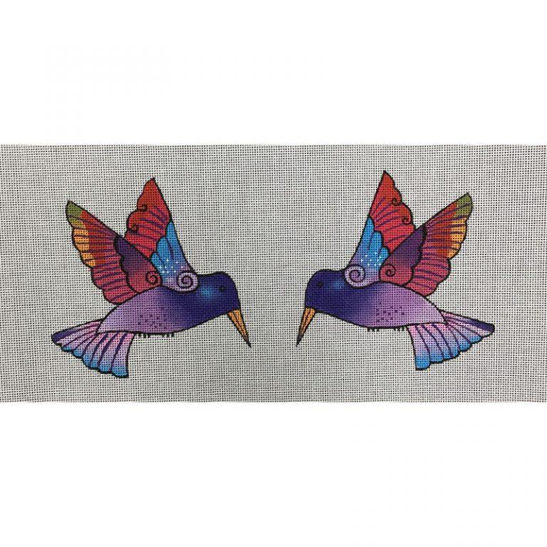 Nashville Needleworks-5521-2-sided Purple Hummingbird