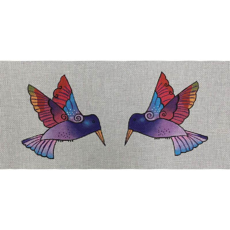 Nashville Needleworks-5521-2-sided Purple Hummingbird