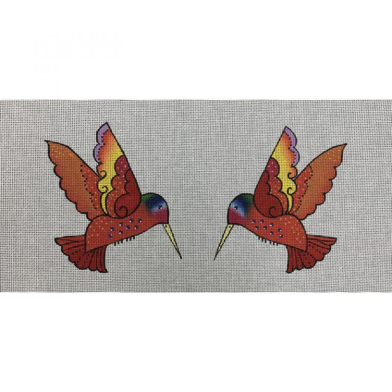 Nashville Needleworks-5524-2-Sided Red Hummingbird