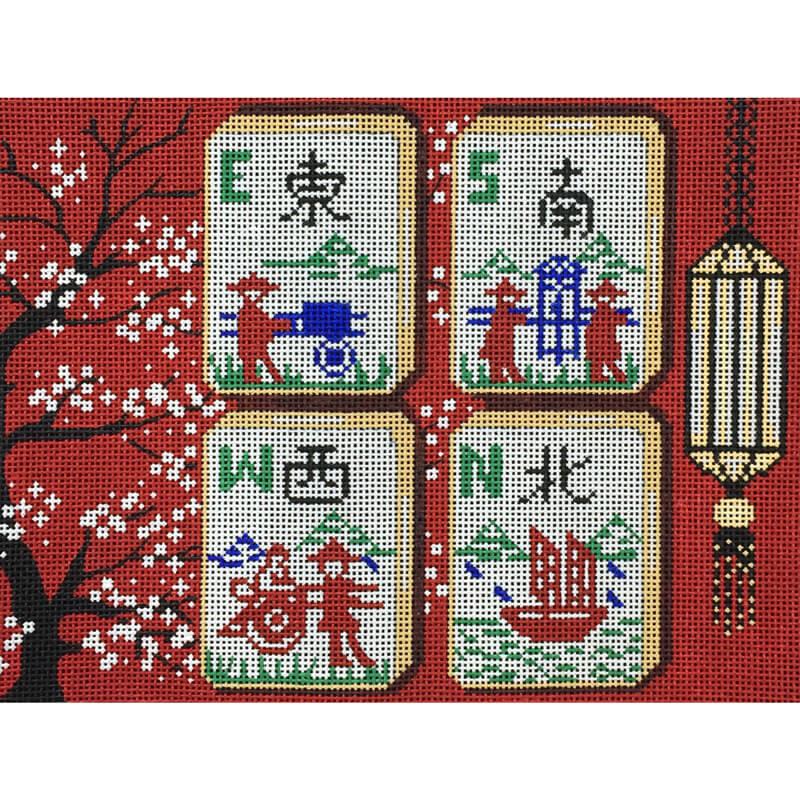 Nashville Needleworks-5526-Cherry Blossom Mah Jongg