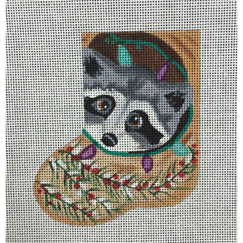 Nashville Needleworks-5514-Raccoon Mini Sock