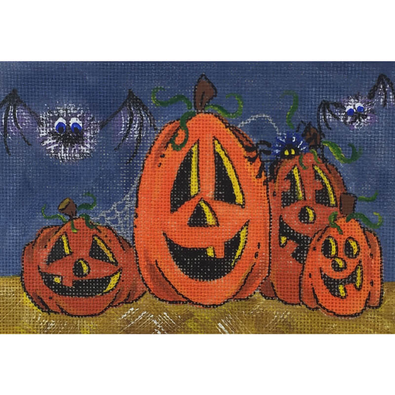Nashville Needleworks-5562 - Smiling Pumpkin Family