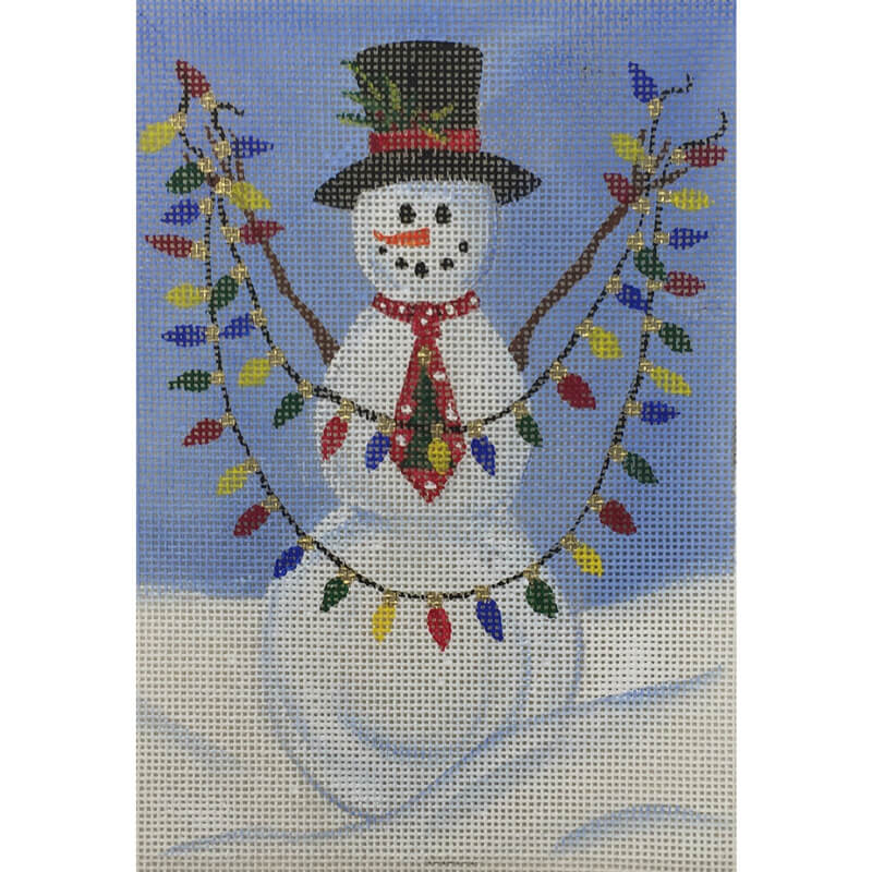 Nashville Needleworks-5566 - Snowman with Lights