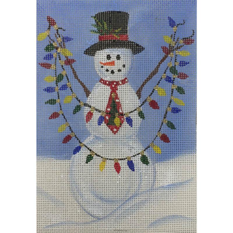 Nashville Needleworks-5566 - Snowman with Lights