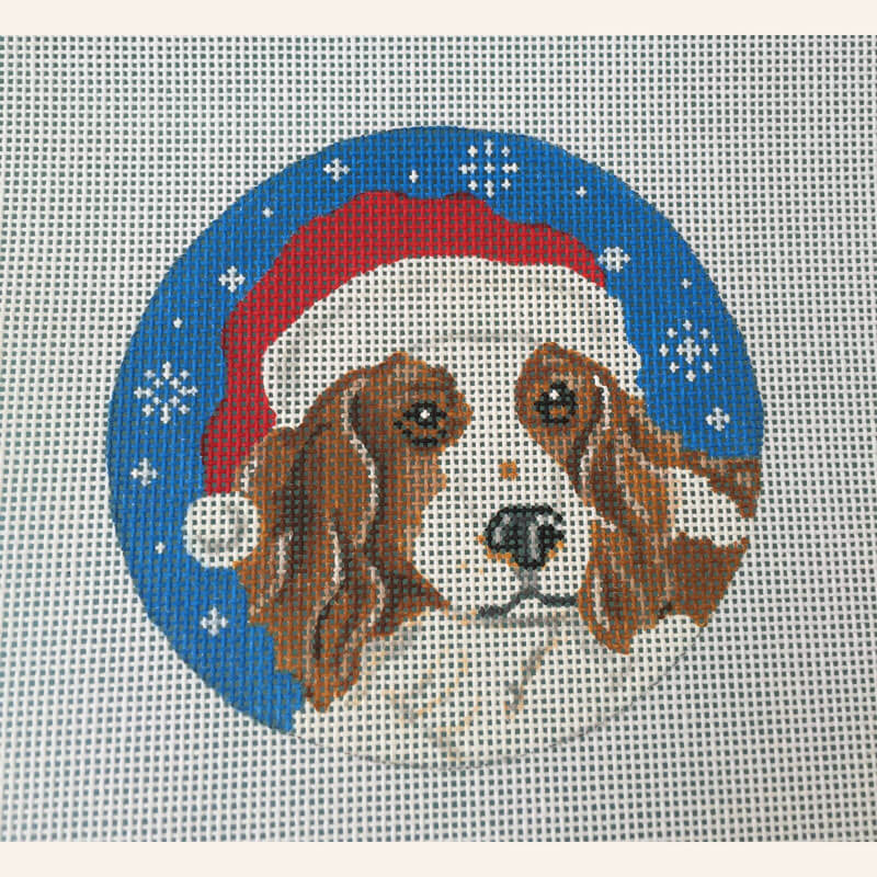 Nashville Needleworks-5614-Welsh Springer Spaniel Santa