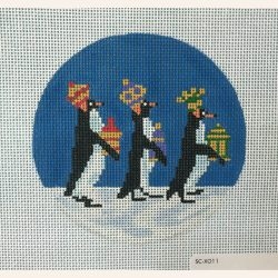 Nashville Needleworks-5619-We Three Penguin Kings