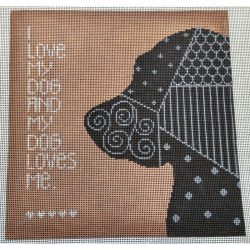 Nashville Needleworks - 5718 - I Love My Dog and My Dog Loves Me