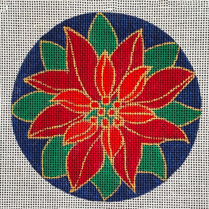 Nashville Needleworks-5873-Pointsettia Round