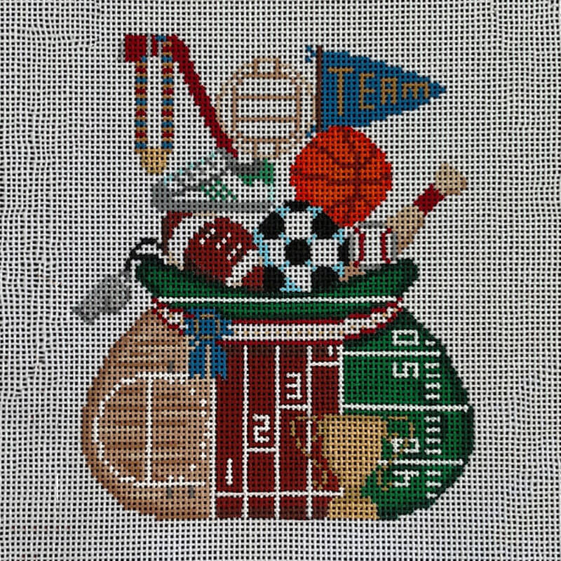 Nashville Needleworks-5833-Sports Santa's Pack