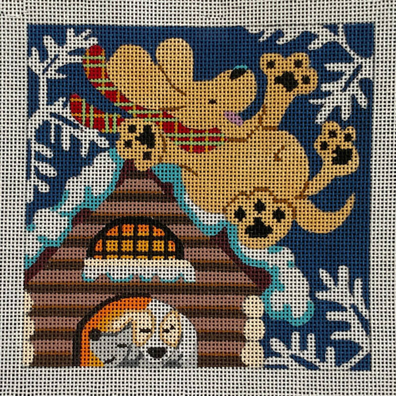 Nashville Needleworks-5868-Puppy Seasons: Winter