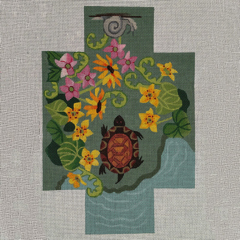 Nashville Needleworks-5883-Turtle Pond Brick Cover