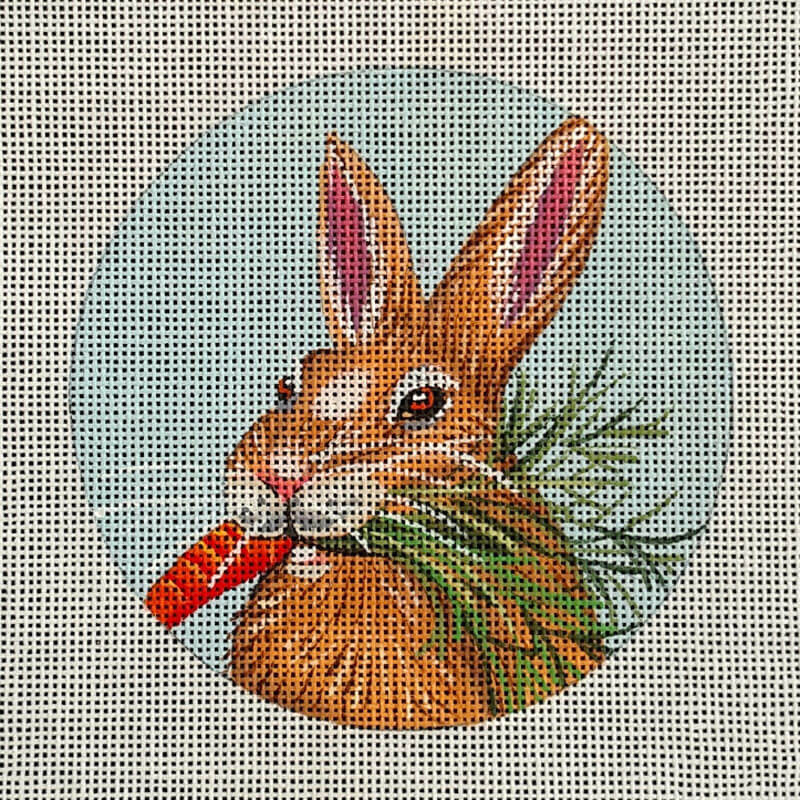 Nashville Needleworks-5621 Carrot Bunny Ornament
