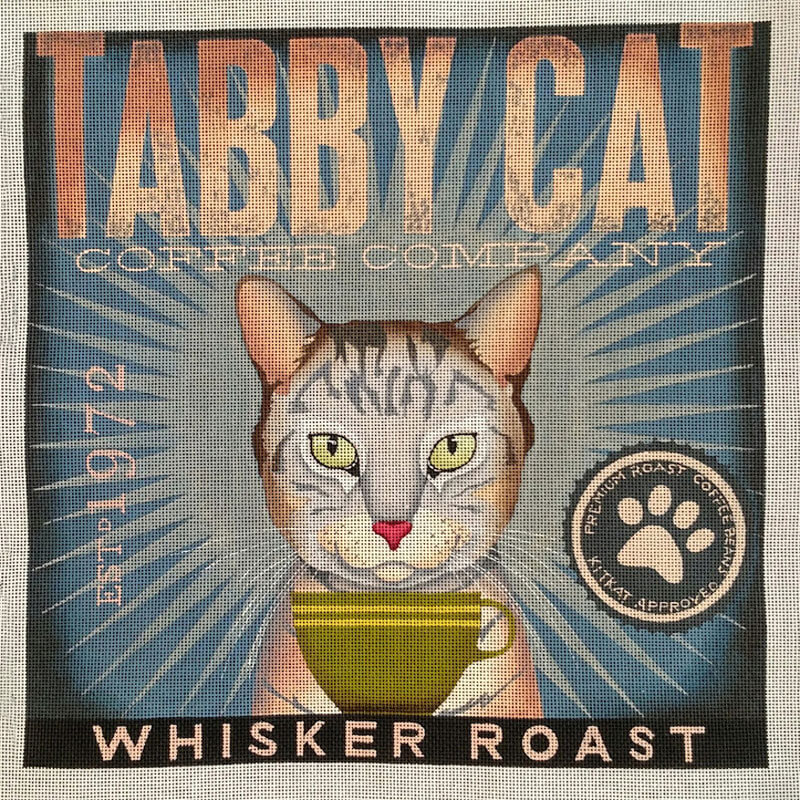 Nashville Needleworks-5967-Tabby Cat Coffee