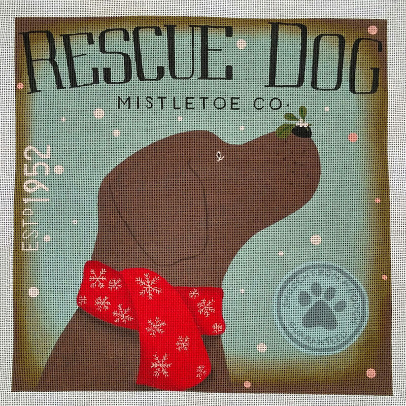 Nashville Needleworks-5966-Rescue Dog Mistletoe