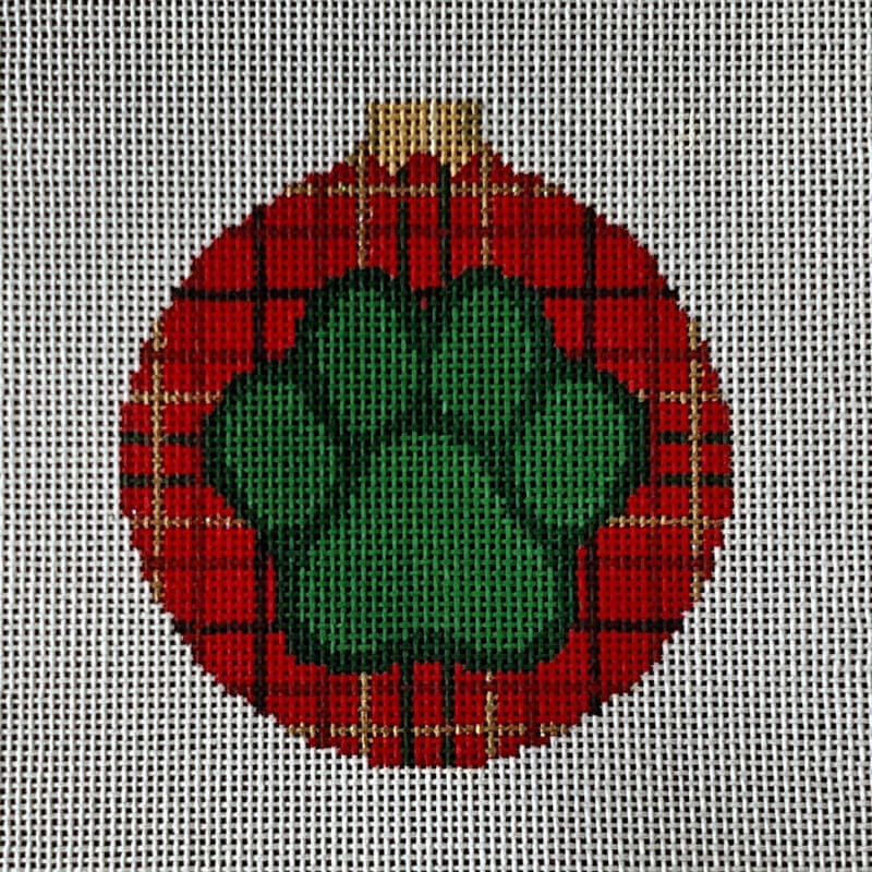"Nashville Needleworks-6121-Dog Paw- 3"" Round"