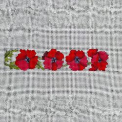 Nashville Needleworks-5875-Poppies Bookmark