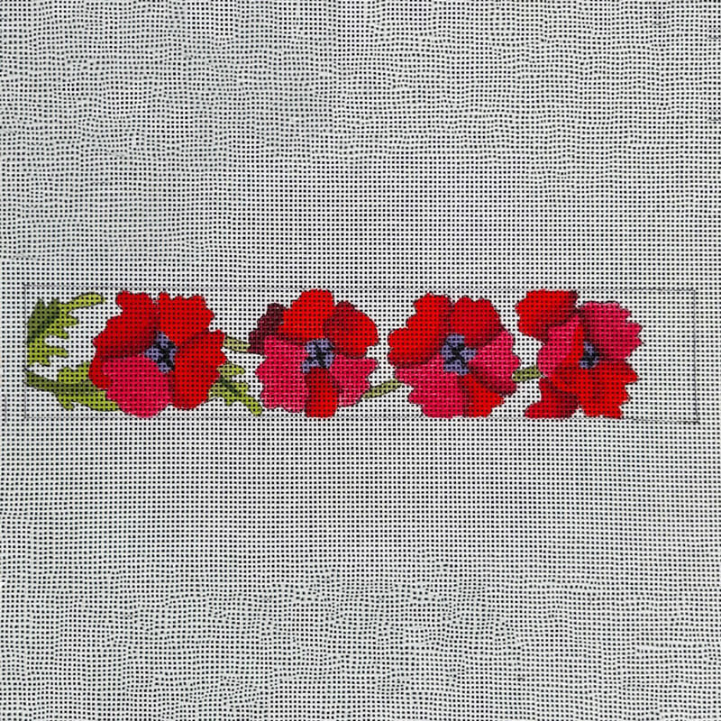 Nashville Needleworks-5875-Poppies Bookmark