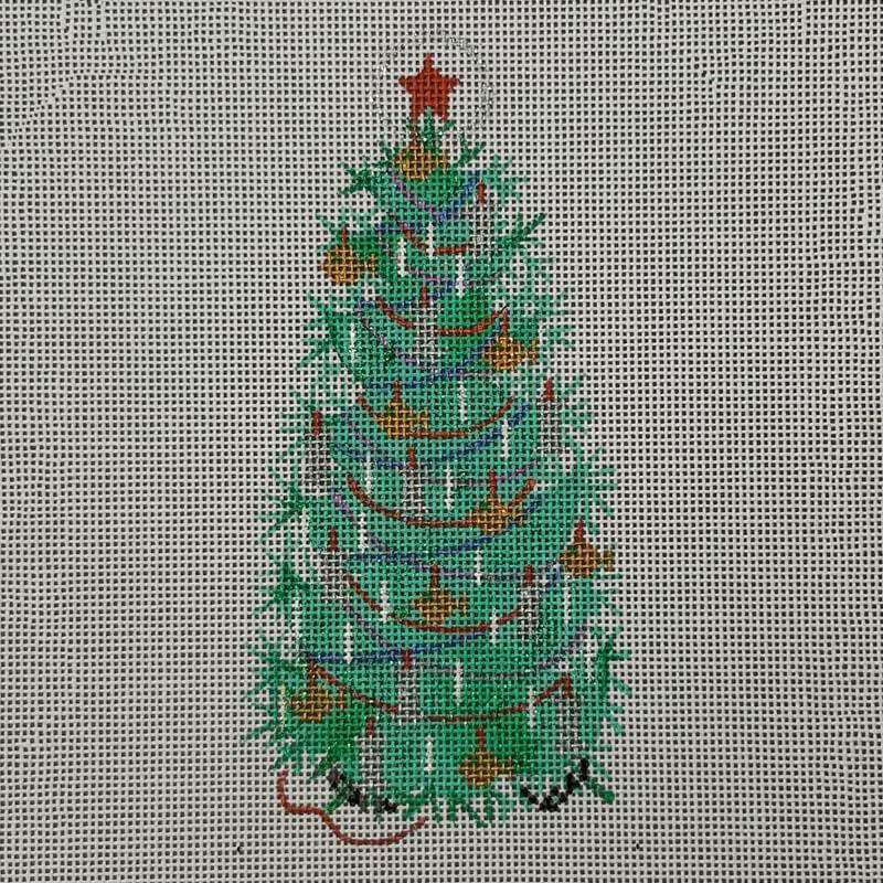 Nashville Needleworks-6323-Glitter Green Tree I