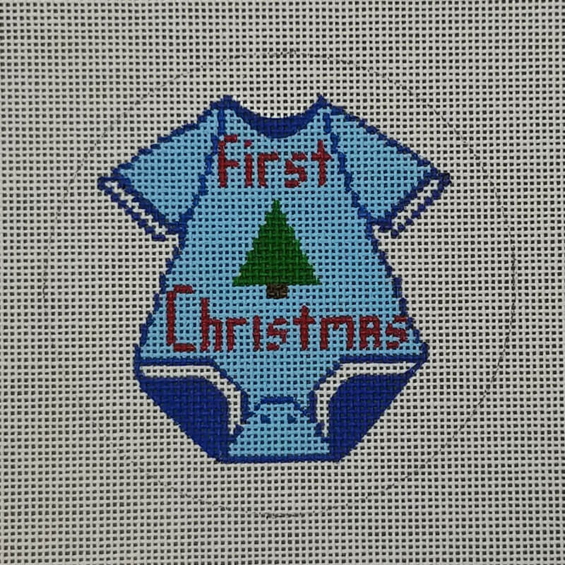 Nashville Needleworks-6343-First Christmas Ornament-Boy