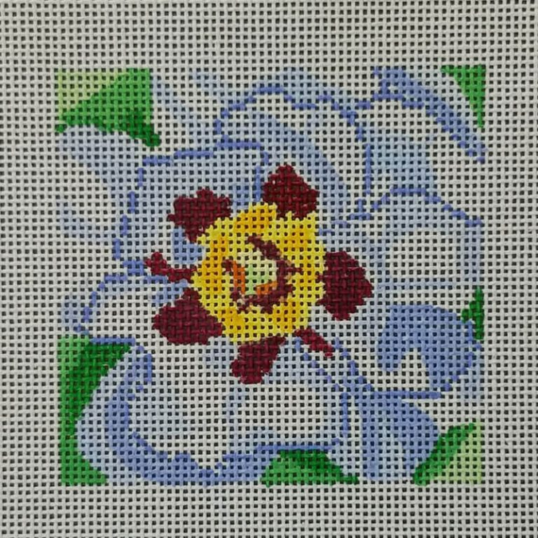 Nashville Needleworks-6356-Purity Peony Coaster