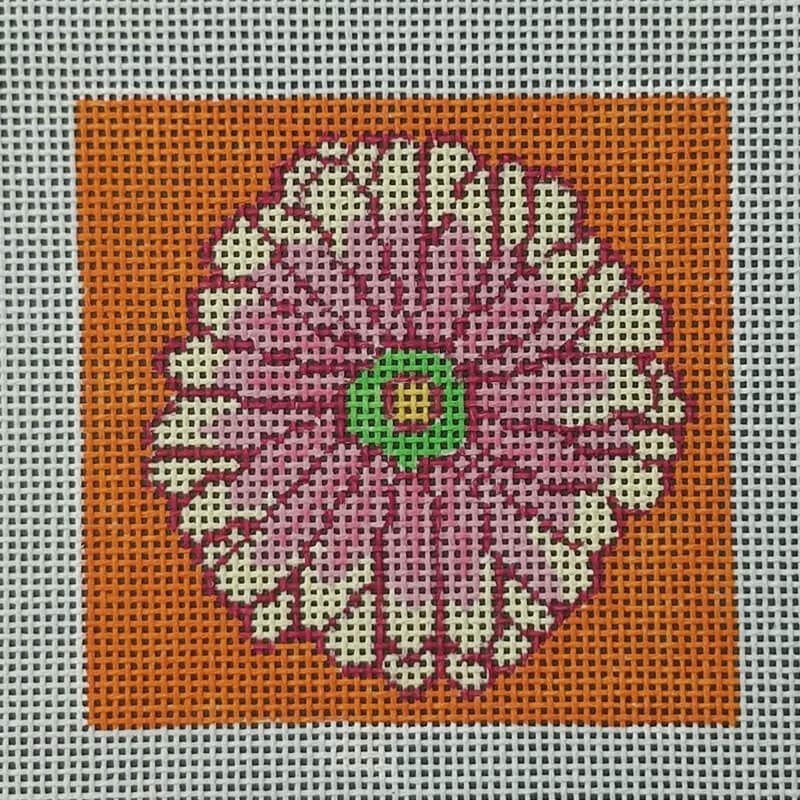 Nashville Needleworks-6353-Gerber Daisy Coaster #6