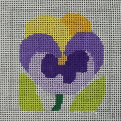 Nashville Needleworks-6020-Pansy Coaster