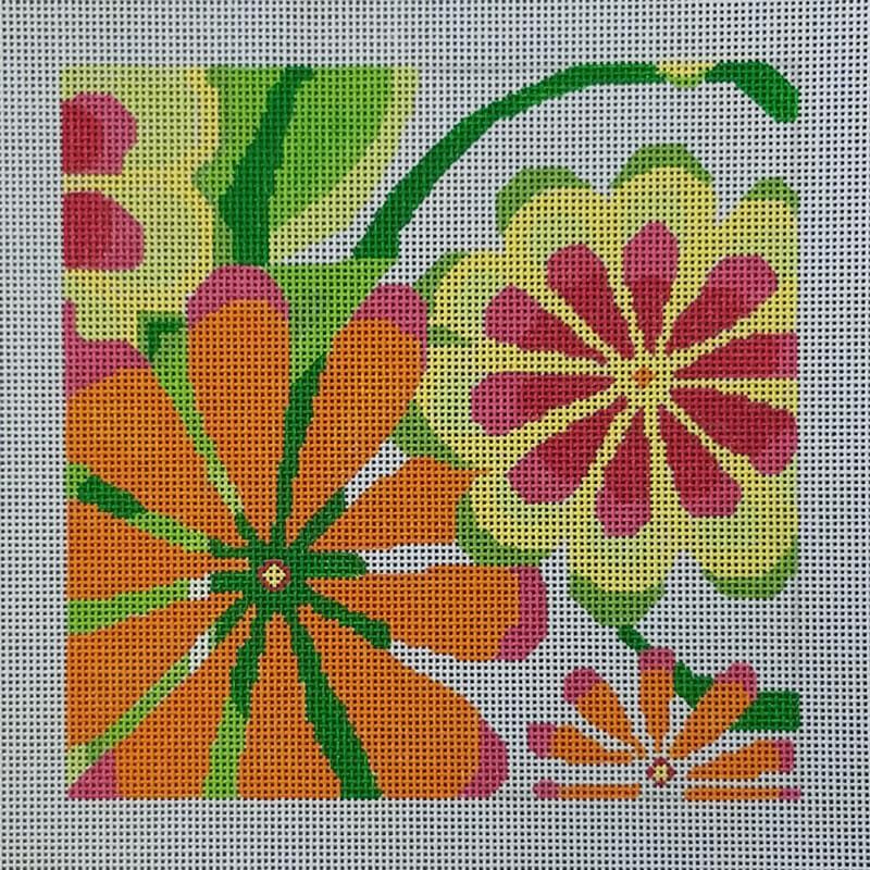 Nashville Needleworks- Small Orange Sherbert Garden