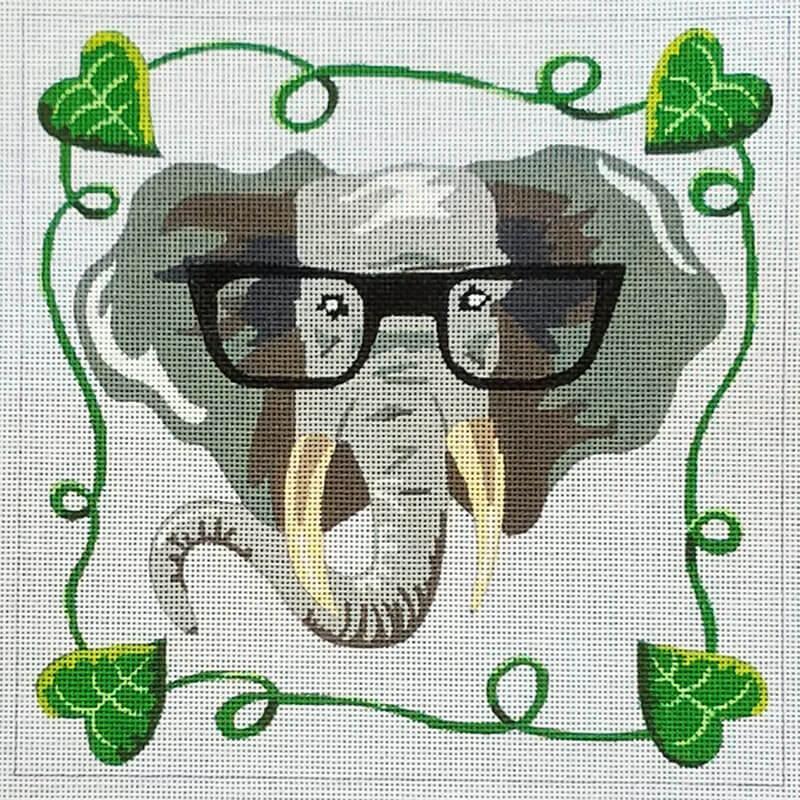 Nashville Needleworks-6337-Elephant with Glasses