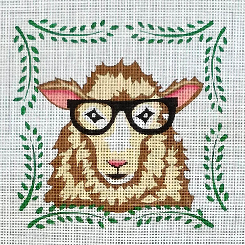 Nashville Needleworks-6338-Sheep with Glasses