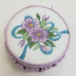 Nashville Needleworks-6292-Lavender Flower Zippered Box