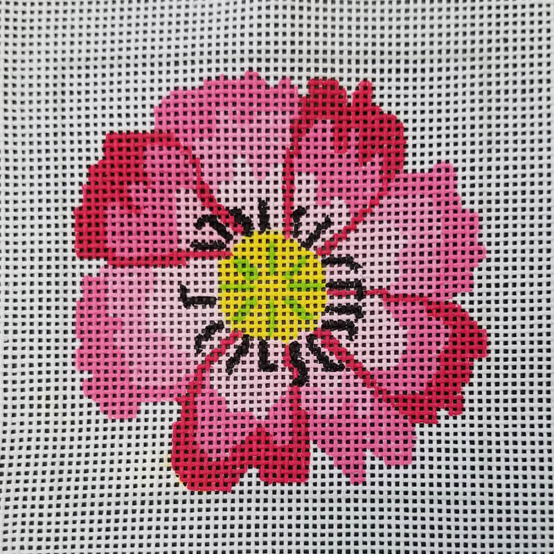 Nashville Needleworks-6015-Pink Dazzle Flower Coaster