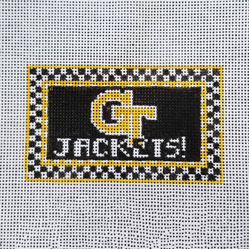 Nashville Needleworks-6165-Georgia Tech Mini Sign