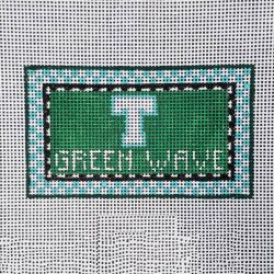 Nashville Needleworks-6166-Tulane Green Wave Mini Sign