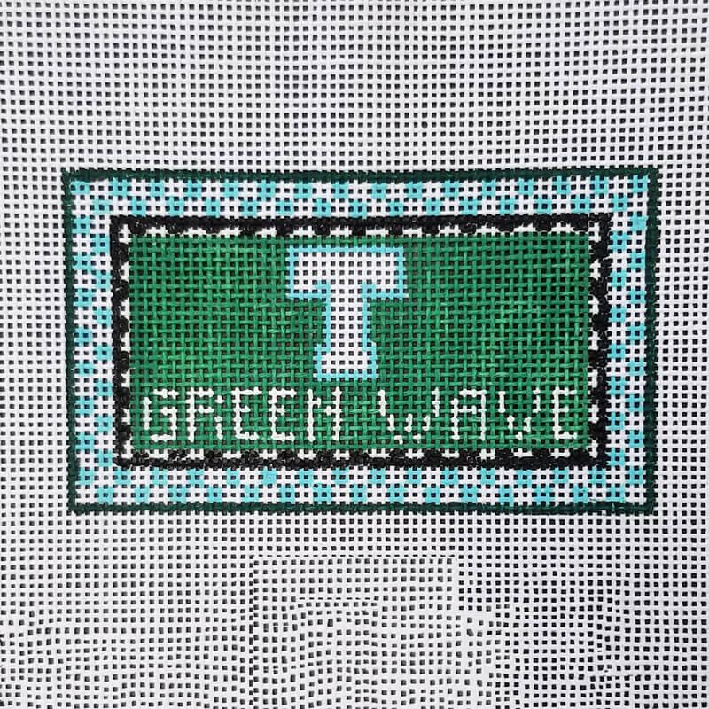 Nashville Needleworks-6166-Tulane Green Wave Mini Sign