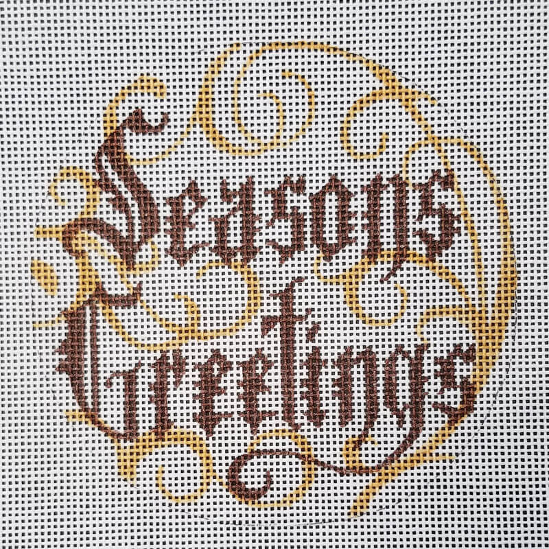 Nashville Needleworks-6047-Seasons Greetings with Swirls