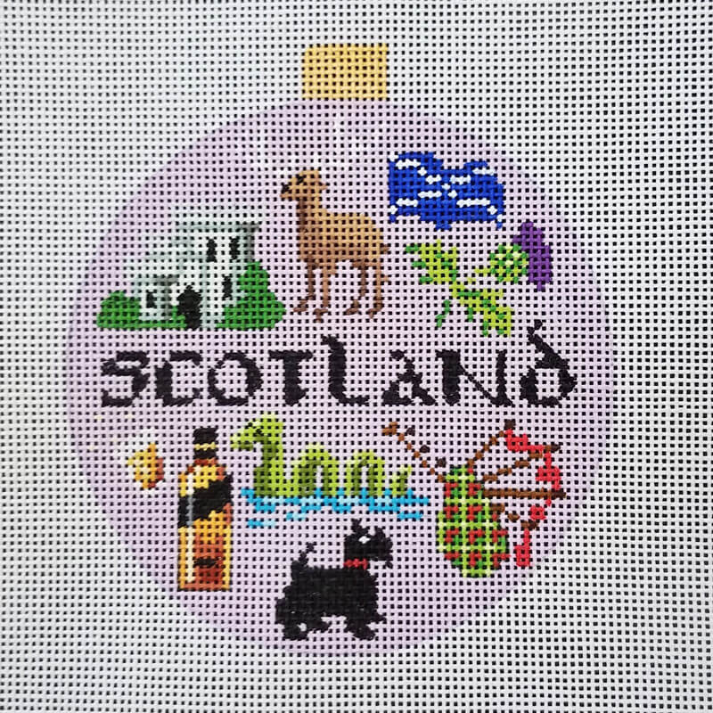 Nashville Needleworks-4820-Scotland Round Ornament